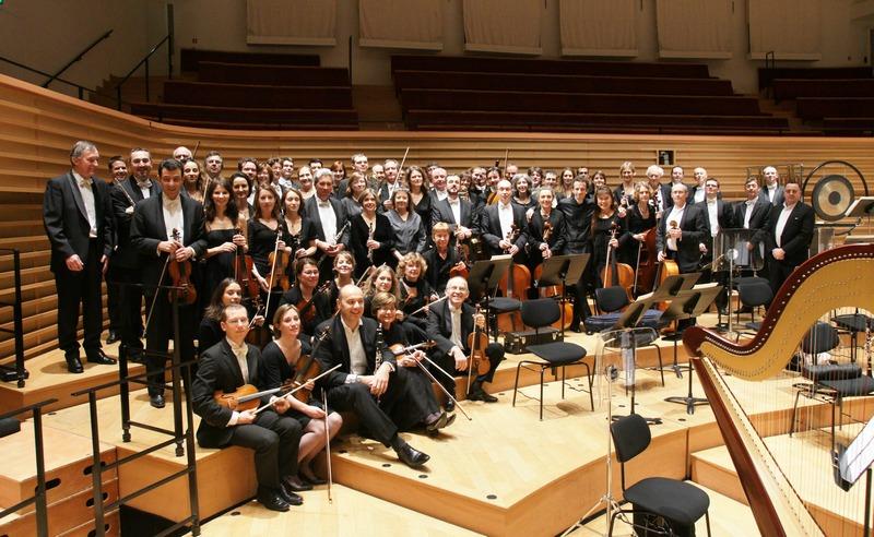 Les musiciens à la Salle Pleyel